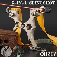 alloy high end hunting slingshot flat rubber bands quickly press slanted slingshot outdoor sports portable slingshot