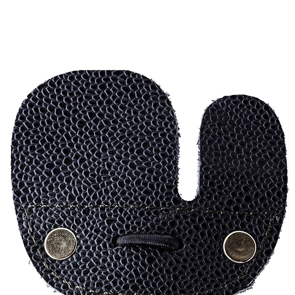 1 Uds guantes Protector Tab arco recurvo caza tiro para la mano derecha vaca cuero tiro con arco