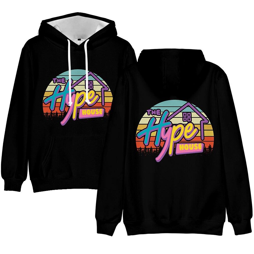 2020 Fashion New The Hype House Print Mens Boys Sweatshirt Womens Girls 3D Pullover Kids Street Hoodie Alphabet Hip Hop Top