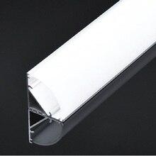 5 sztuk z 50cm profil kątowy, w kształcie litery V profil aluminiowy led, 12mm 12V 24V sztywny pasek kanał, 45 stopni schody drążek led obudowa