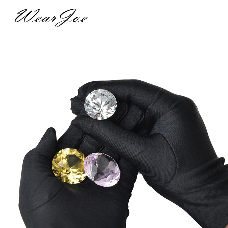 High Elastic Spandex Jewellery Shop Guide Women Gloves Show Etiquette Cotton Thin Work Jewelry Inspection Gloves Photo Film Gold