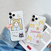 Cute Moon Girls Cat Phone Case For Xiaomi Redmi 6 6A 7 7A 8 8A 9 9A 9C Note 5 8Pro 8T 9s 9Pro 10 10P