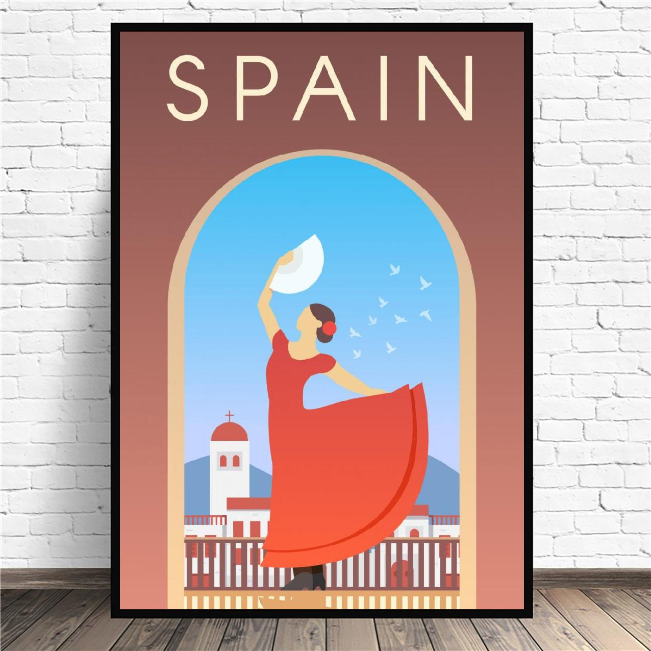 Spain Travel Canvas Painting Wall Art Pictures Prints Home Decor Wall Poster Decoration For Living Room