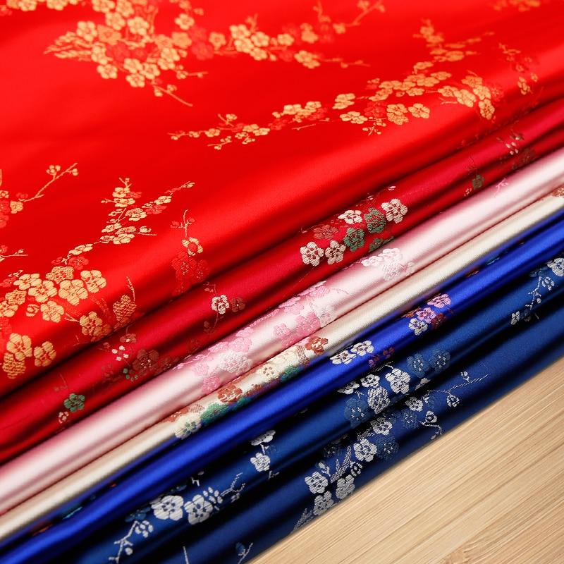 Tela Jacquard tela brocada para coser Kimono y Cheongsam tela de satén para DIY