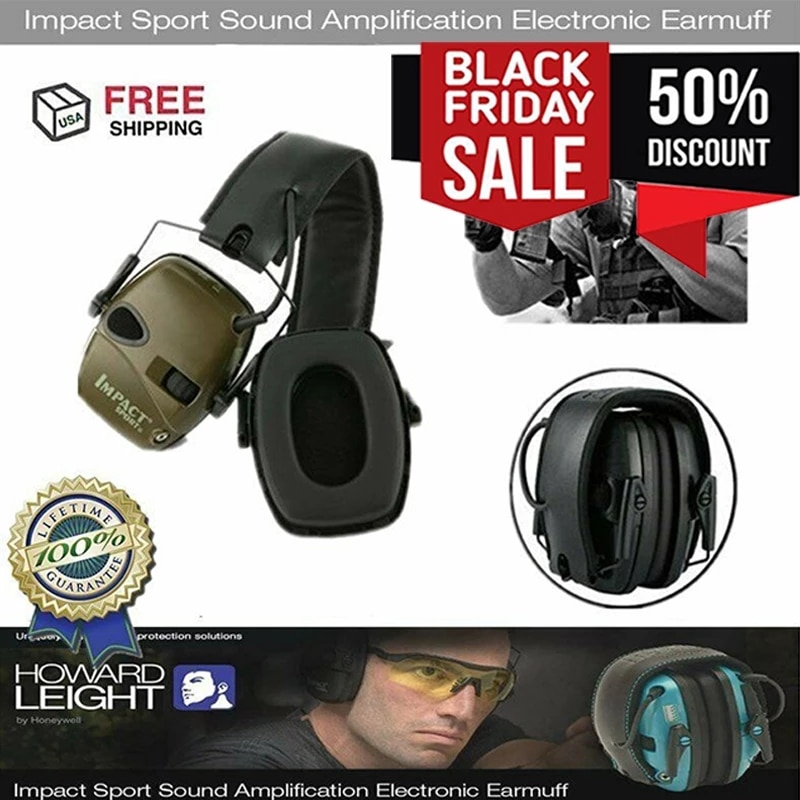 Outdoor Sports Anti-noise Impact Sound Amplification Electronic Shooting Earmuff Tactical Hunting He
