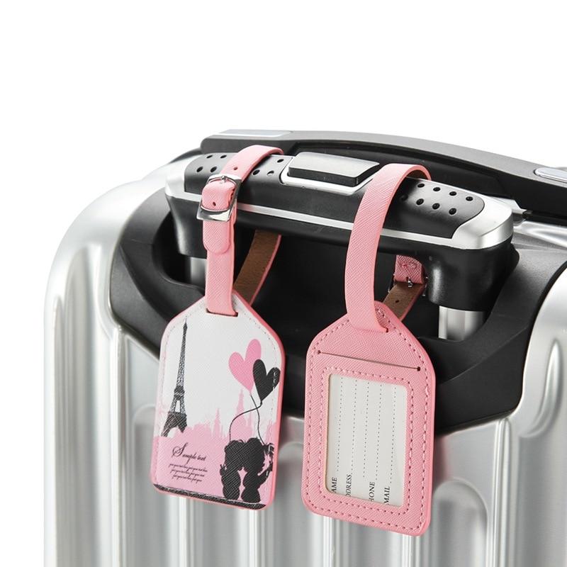 Accesorios de viaje a la moda, etiqueta de equipaje de la Torre Eiffel de alta calidad, portatil de etiqueta para equipaje, portatil