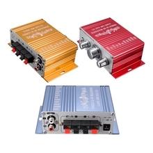 Chaud!! RCA 2CH Hi-Fi amplificateur stéréo Booster MP3 haut-parleur pour voiture DVD Mini Moto