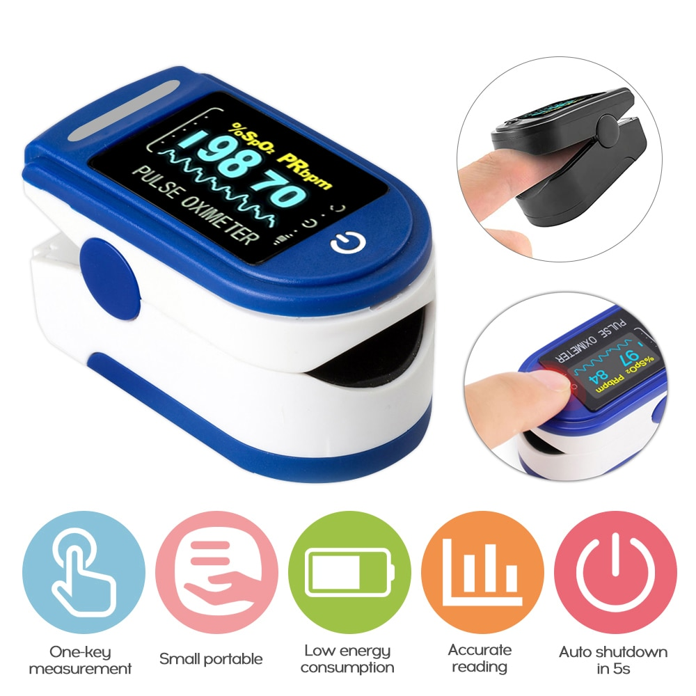Portable Finger Oximeter fingertip Heart Rate Saturometro Household Health Monitors Pulse Oximeter LED Oximetro Pulse Oxymeter