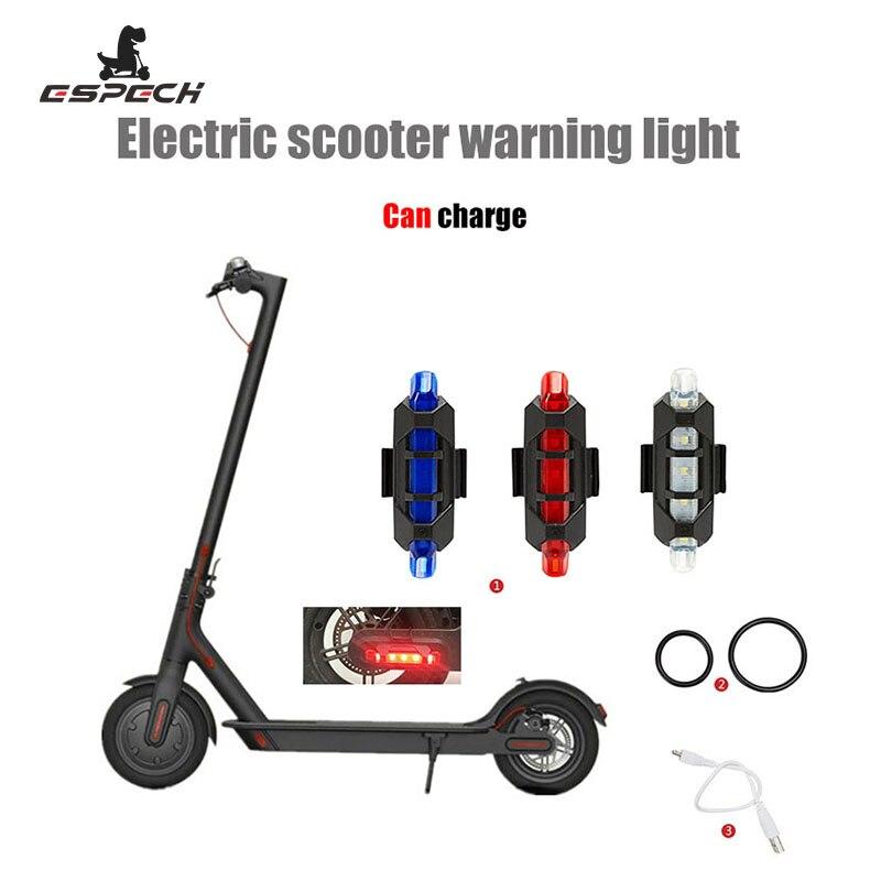 Tira de luces Led de advertencia recargable para Mijia M365 de Xiaomi, luz de seguridad para ciclismo nocturno