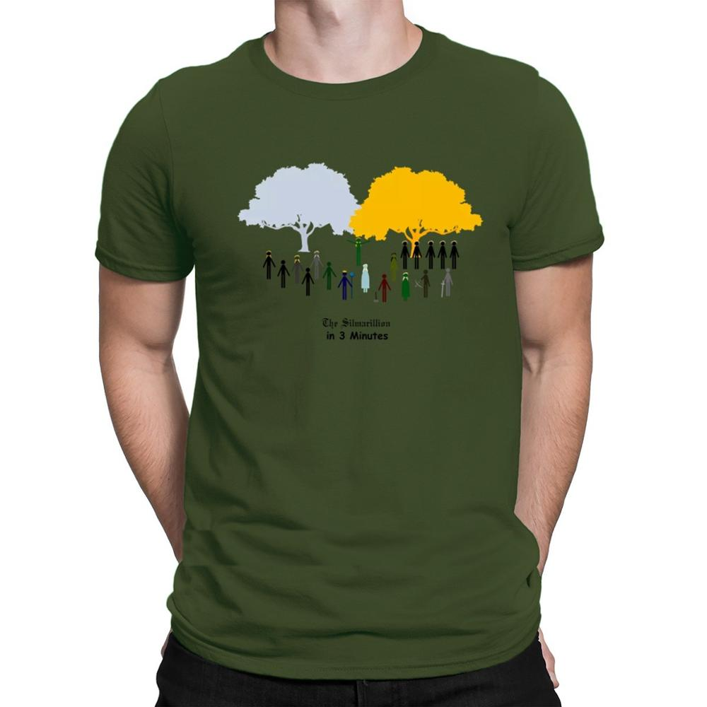 Hot the silmarillion in 3 minutes T shirt Tolkien short sleeve tee shirts fashion summer style cotton round tee casual
