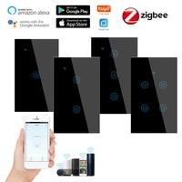 Interrupteur tactile intelligent Zigbee  1 2 3 4 boutons  Standard US  application Life pour Alexa et Google Home Assistant