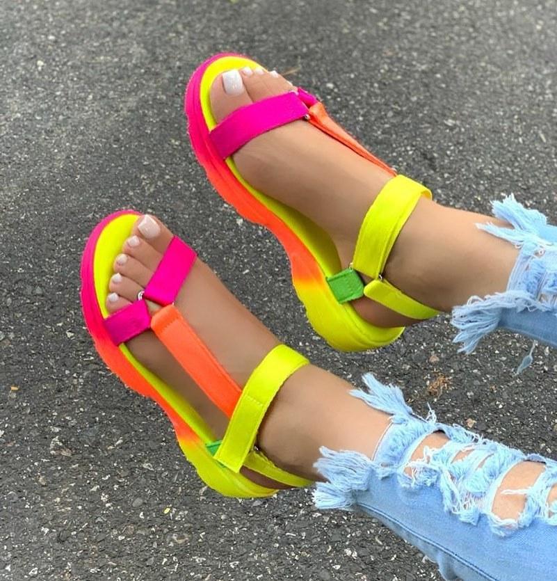 2020 Women Sandals Summer Shoes Woman Peep-toe Comfortable Sandals Slip-on Flat Casual Shoes Female Sandalias big bowtie women sandals round toe breathable air mesh female shoes shallow slip on low heels black summer sandalias mujer