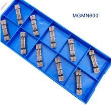 10 pièces MGMN600 carbure insère 6mm rainurage lame CNC tour plaque outil de tournage fraise