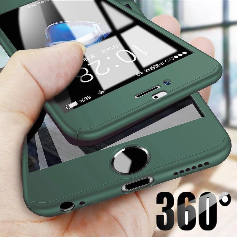 360 carcasa de cuerpo completo a prueba de golpes para iPhone SE 2020 11 Pro X XR XS Max 6 6S 7 8 Plus 5S 5C protección parachoques Funda Capa