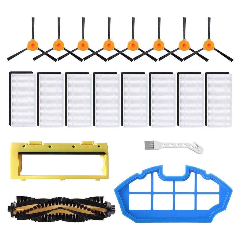 Replacement Parts Kit for Ecovacs DEEBOT N79 N79S DN622 500 N79Se Robotic Accessories Filters, Side Brushes,Main Brush