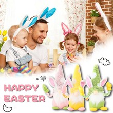 4pcs Easter Decoration Doll Decoration Ornaments Rabbit Doll Ornaments Home Party Decorations Kids T