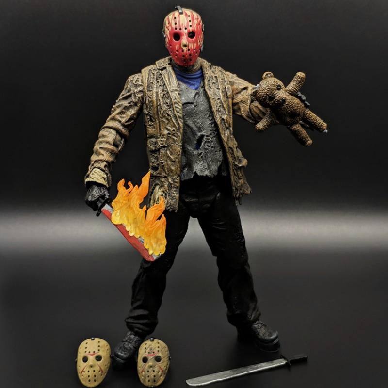 Black Friday Jason Hand-made Ghost Street Horror Movie Action Figure Model Toy Freddy NECA