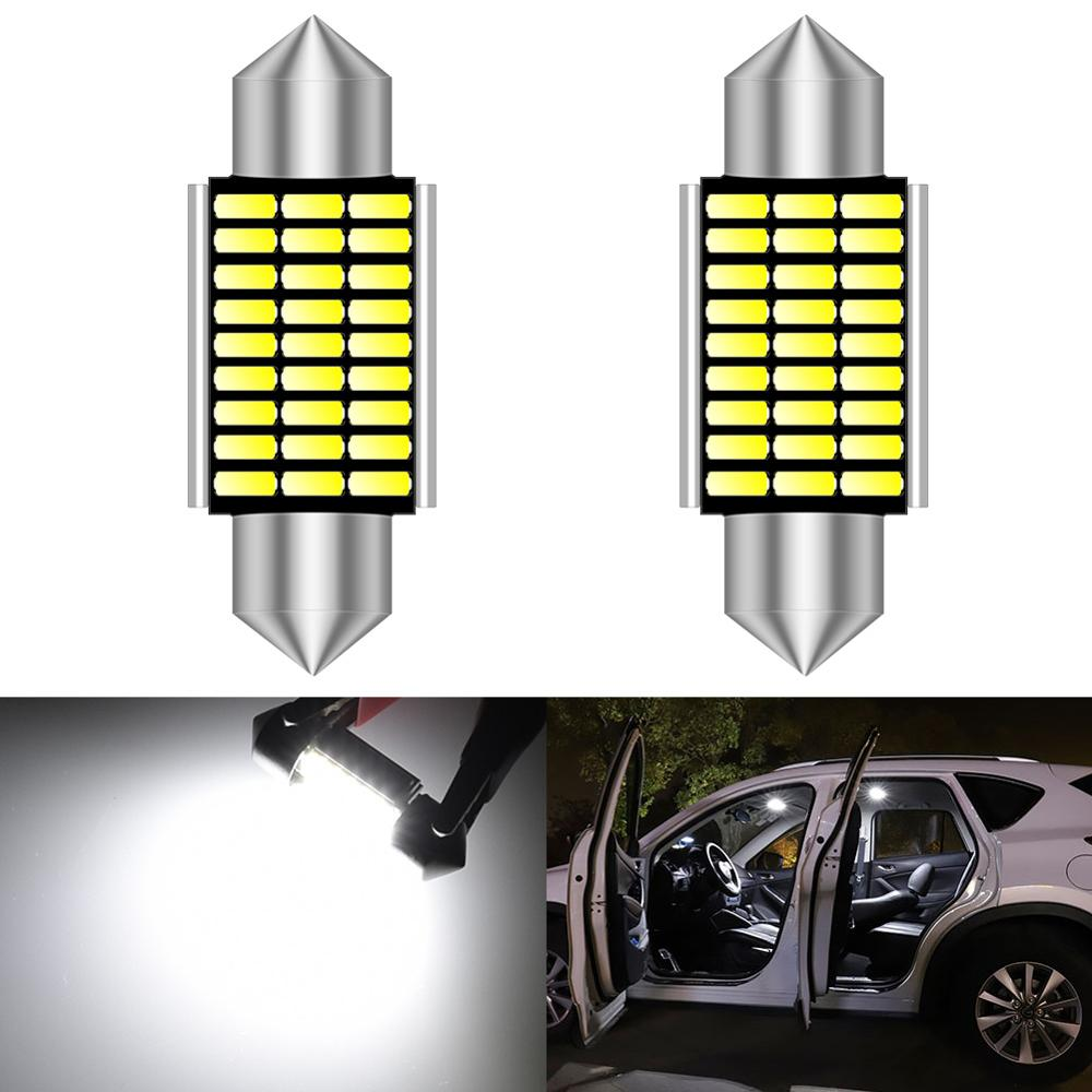 2 stücke LED 31mm 36mm 39mm 41mm Weiß CANBUS C5W Lampen Interior Lichter Lizenz Platte Licht für BMW E39 E36 E46 E90 E60 E30 E53 E70
