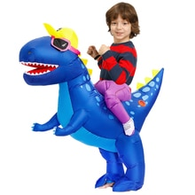 Child Dinosaur Costume Cloth Anime Purim Carnival Birthday Party Cosplay Boys Girls Inflatable Costumes Suit For Kids Halloween