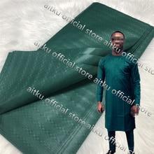 Tissu Atiku nigérian de couleur Pure 5 Yards   Tissu africain de Style Atiku pour hommes