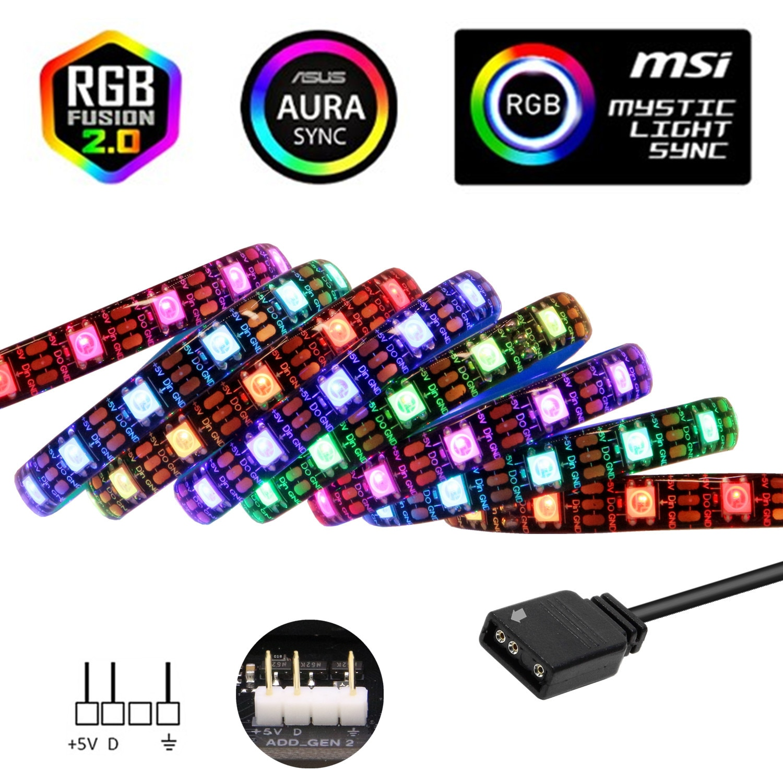 WS2812b RGB tira de LED ASUS AURA SYNC / MSI místico luz...