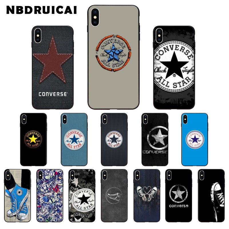 NBDRUICAI suave transparente cubre casos Converse todas las estrellas logotipo para iPod Touch iPhone 4 4 4S 5 5S 5C SE 6 6S 7 8 X XR XS Plus.