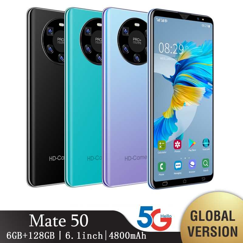 Mate 50 Pro Smartphone Global Version CellPhone Android 10.0 Mobile Phones 6.1