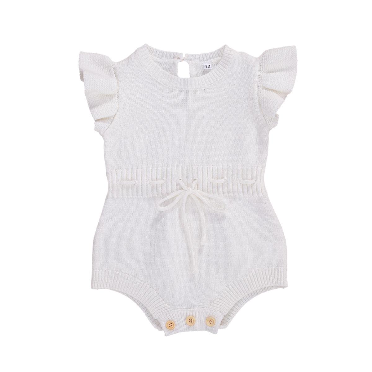 Pudcoco bebê recém-nascido roupas da menina do bebê malha macacão roupas de verão topos babados playsuit macacão bandana outfits