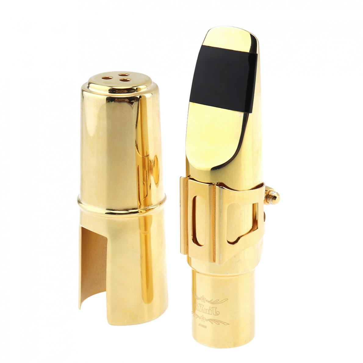 Soprano bB Saxophone Mouthpiece Goldplated Copper Brass Sax Mouth Size 6C 7C for Classical Jazz Music  Saxophone Mouthpiece enlarge