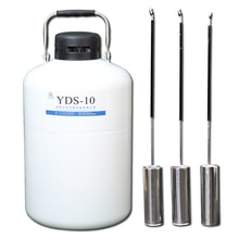 liquid nitrogen tank dewar vessel yds 10 gas cylinder semen flask 10l portable storage container