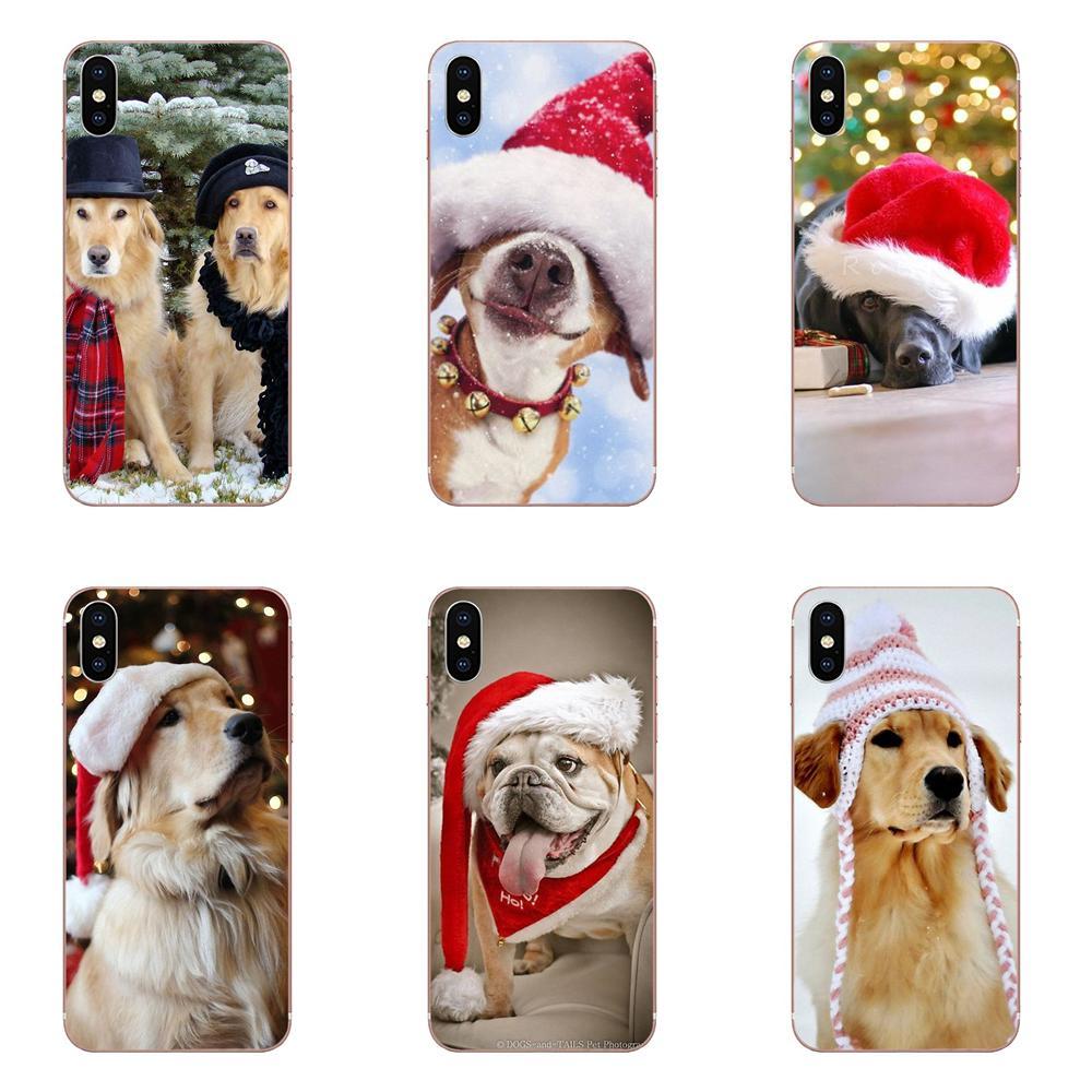 Navidad perro Capa de teléfono suave para Xiaomi Mi nota 9 10 mi10 mi9 mi8 pro lite SE Mi A1 A2 A3 CC9 CC9E 9T