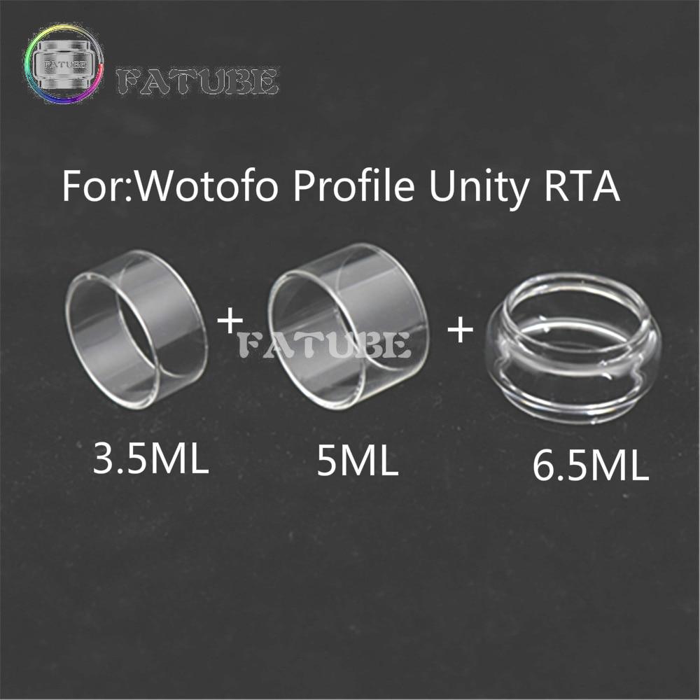 3pcs fatube glass tank for wotofo profile unity rta 3 5ml 3PCS FATUBE Glass Tank for Wotofo Profile Unity RTA 3.5ml & 5ml & 6.5ml