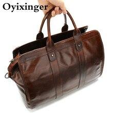 2020 Mens Travel Organizer Bags Handbag Fashion Large Men Weekend Bag Genuine Leather Business Weekend For Gentlemen Travel Men