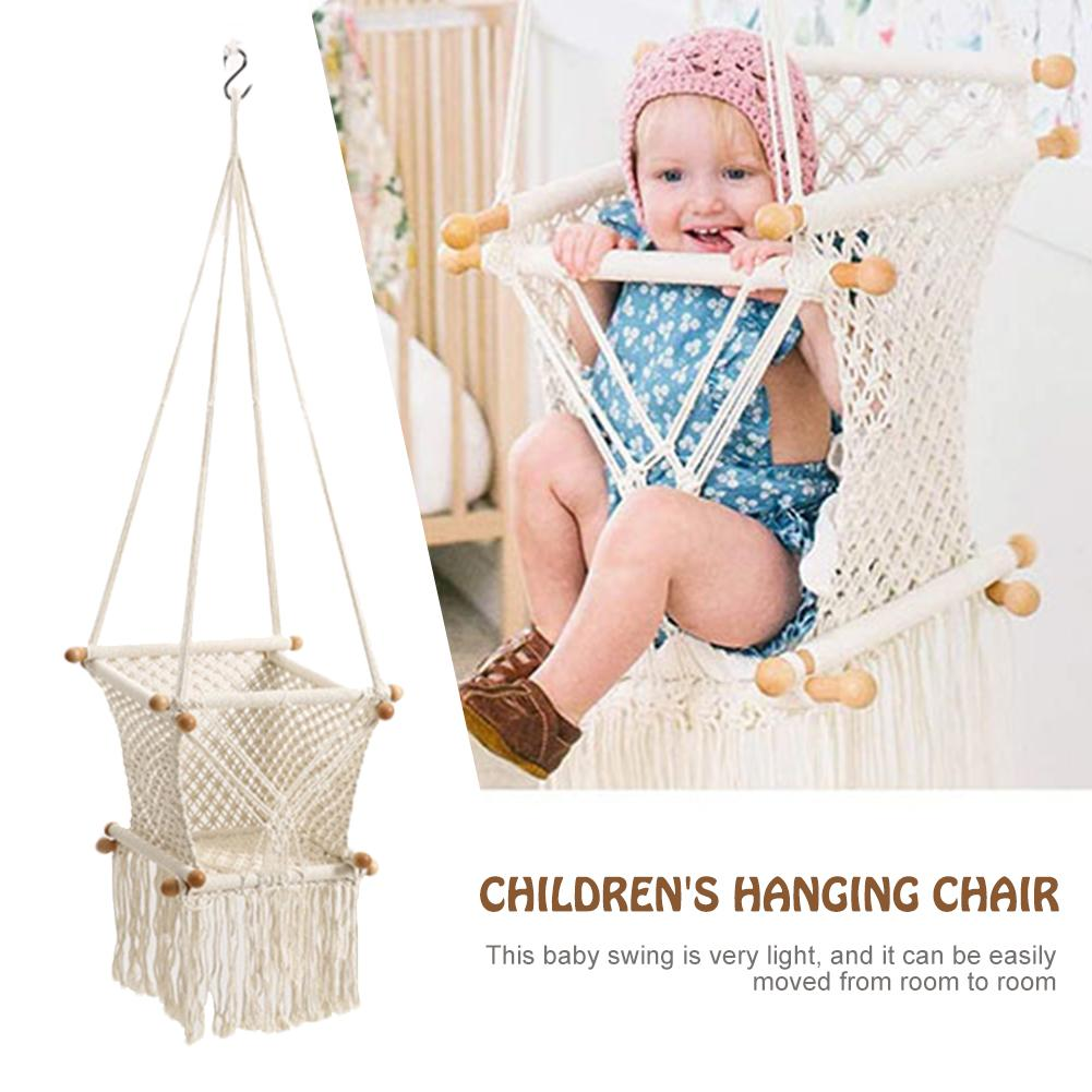 Baby Hanging Swing Seat Hammock Chair For Infant Toddler Home Decoration Bearing 130kg