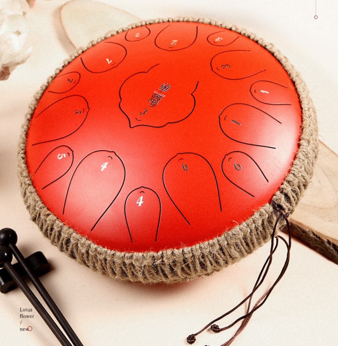 Steel Tongue Drum 15 Notes 13 Inch Harmonic Handpan Drum, Percussion Instrument, Tank Drum Chakra Drum for Meditation, Yoga and enlarge
