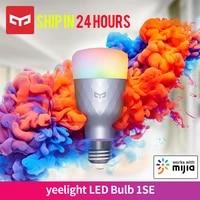 Yeelight     ampoule LED intelligente 1SE E27 6W RGB  controle vocal sans fil  lumiere coloree  prise en charge Google Home  fonctionne avec lapplication Mija  nouvelle version