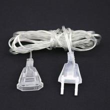 5m Cable extensor de corriente alterna 220V EU 110V US Cable de extensión de enchufe para baja potencia LED cortina Navidad luces interiores