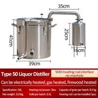 model 50 large distiller homebrew traditional liquor distiller 304 stainless steel distiller brews grain brandy vodka whisky