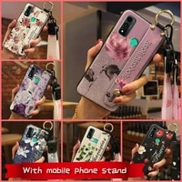for woman wrist strap phone case for huawei p smart 2020nova lite 3 plus lanyard fashion design original kickstand