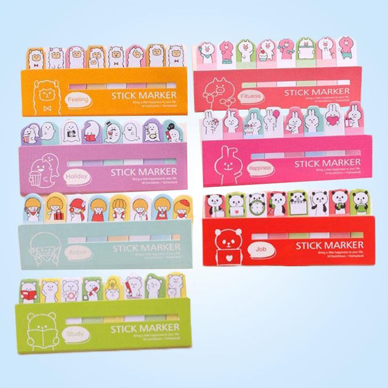 Nota adhesiva Panda Rilakkuma marcadores Kawaii papelería tienda suministros escolares