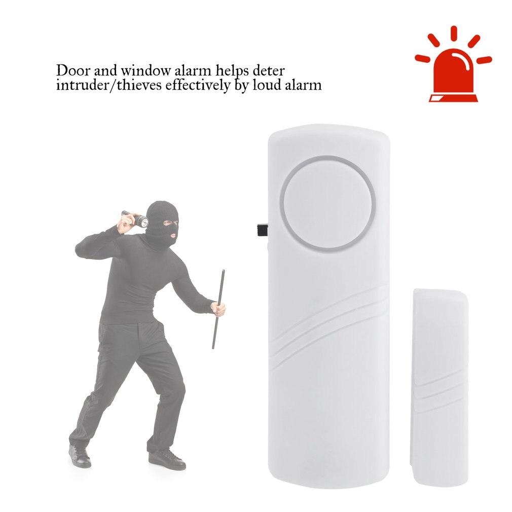 Alarme antivol sans fil de fenetre de porte avec capteur magnetique securite a la maison sans fil systeme plus long dispositif de securite blanc en gros