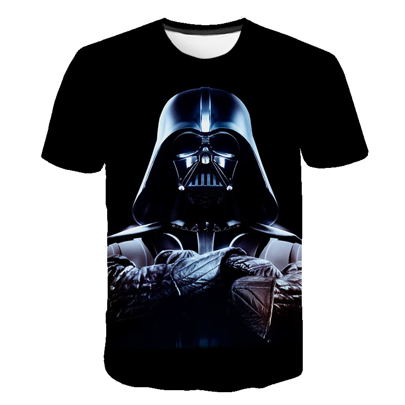 Niños 2019 nuevo 3D impreso star wars camiseta niño niñas manga corta divertidas camisetas moda Casual Camiseta cómoda