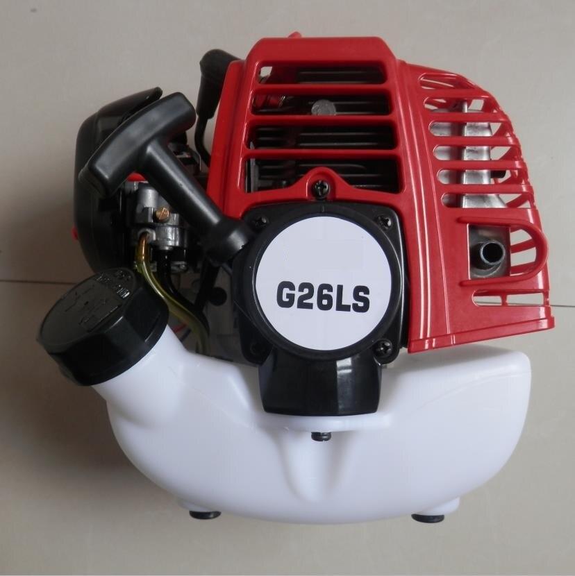 G26LS البنزين محرك G26L 2600 25.4CC 2 دورة BRUSHCUTTER STRIMMER البخاخ WIPPER مستر منفضة دراجة نارية OEM محايد المحرك