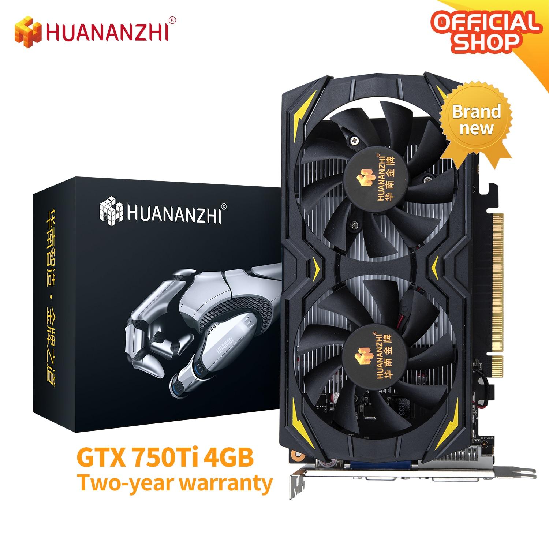 HUANANZHI GTX 750 TI 960 4G 100% new original Graphics 128Bit GDDR5 DVI VGA HDMI-Compatibl Video Car