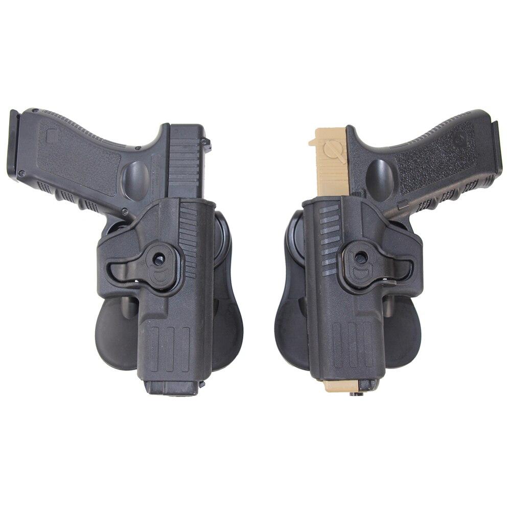 Tático à direita canhoto imi glock coldre de combate arma coldre para glock 17 18 19 22 23 26 32 43 pistola holsters airsoft caso