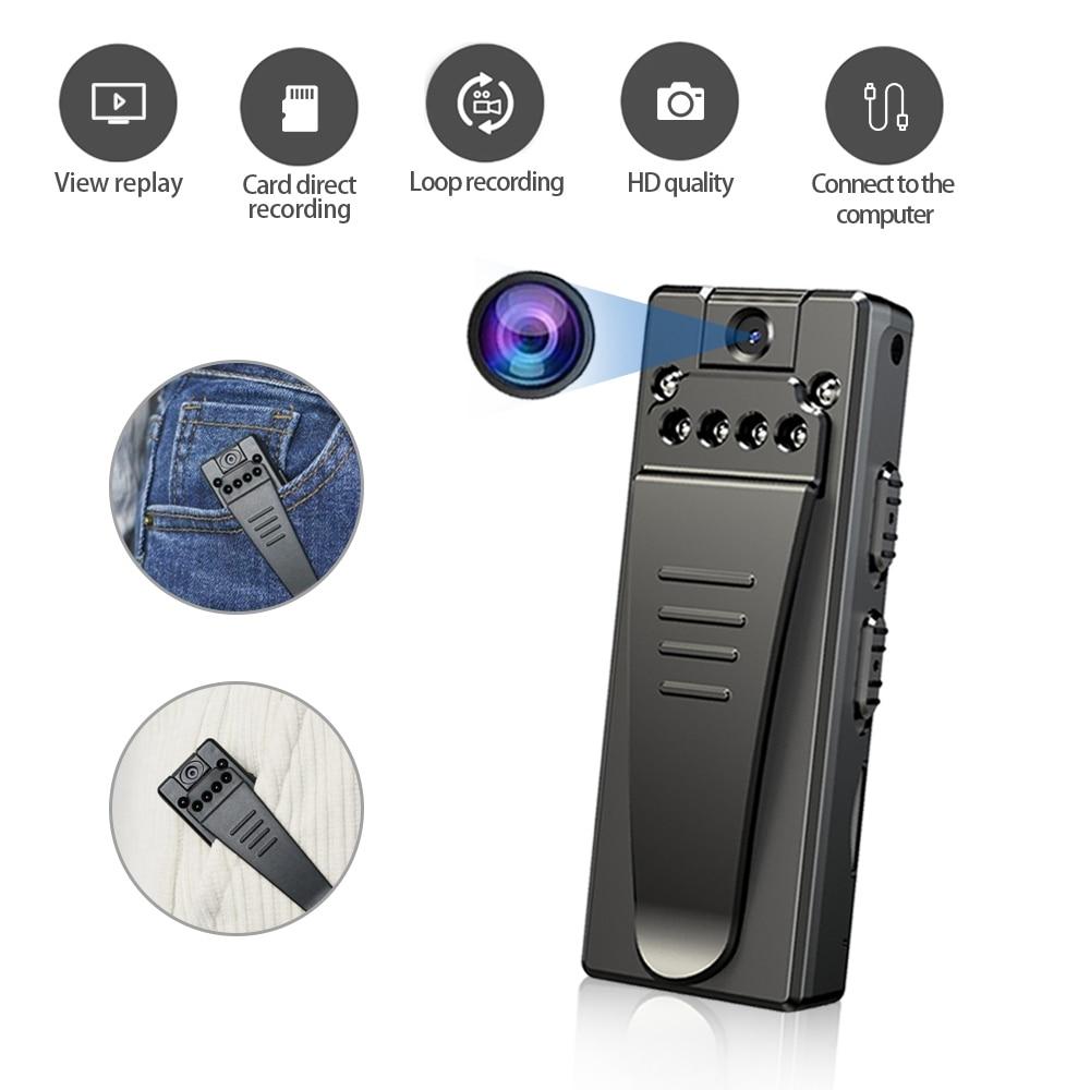 HD 1080P Mini Camera Bodycam Consumer Camcorders Safety Microfono Small Monitor Home Security Equipment Night Vision Camera