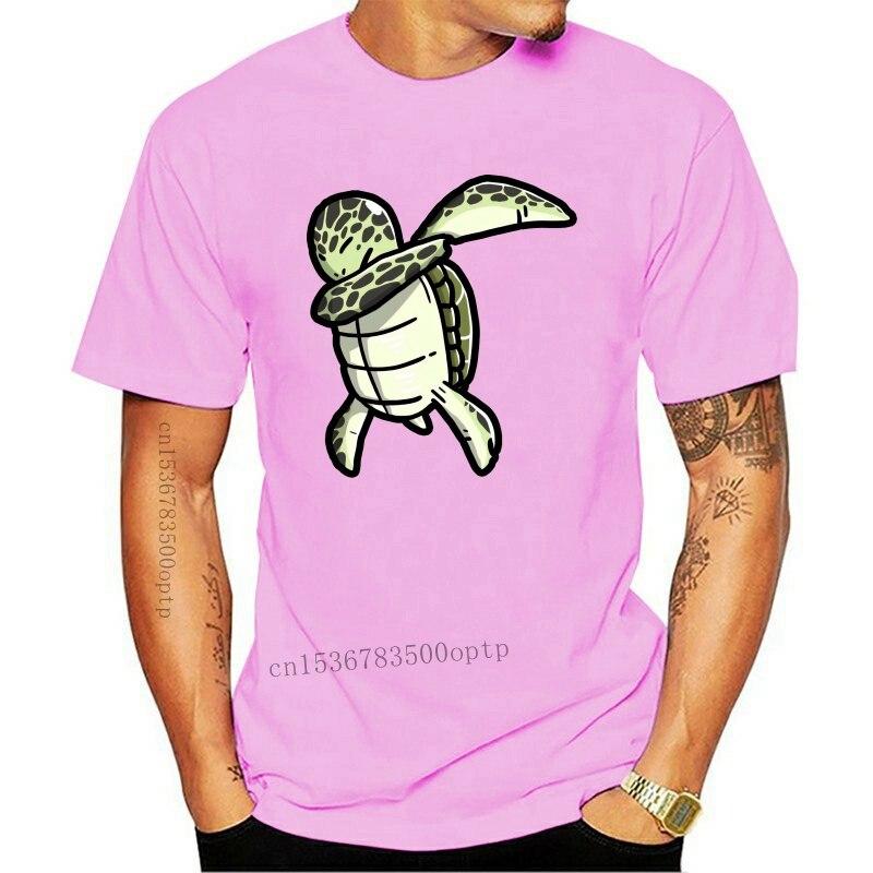 7364D divertido Dabbing espíritu tortuga de mar T camisa de los hombres...