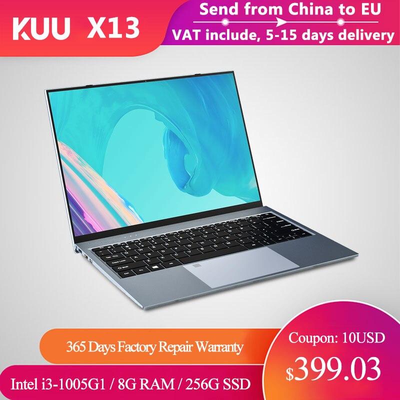 Metal 13.5 Windows 10 Notebook Inch Intel i3-1005G1 2K IPS Screen Gaming Laptop Fingerprint 8GB RAM 256GB SSD Backlit BT Camera
