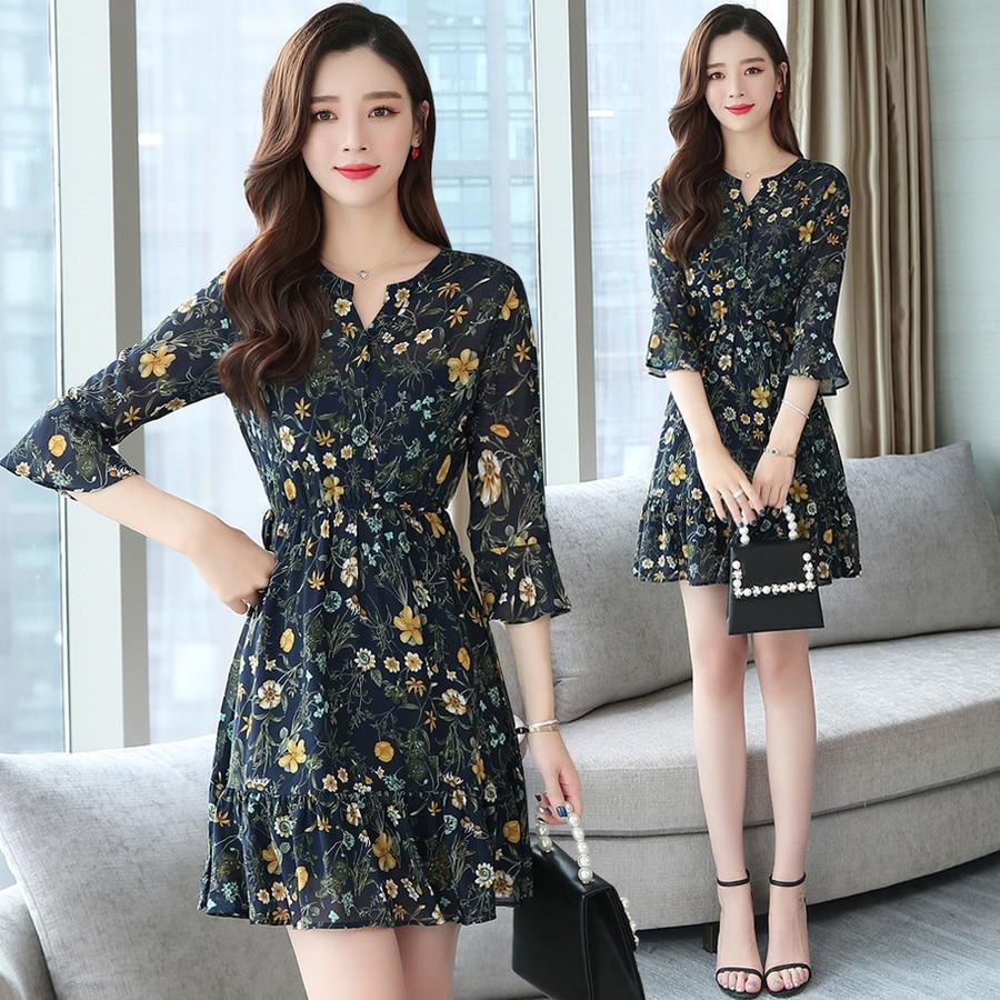 2020 coreano do vintage sexy praia mini vestido de verão plus size floral chiffon boho vestidos elegantes mulheres bodycon festa
