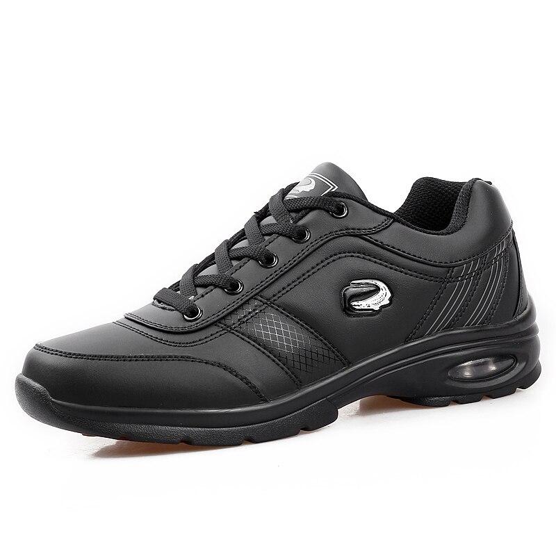 Zapatos de Golf para hombre, zapatillas deportivas impermeables para exteriores de color negro y marrón, zapatillas deportivas de entrenamiento de Golf para hombre con cordones